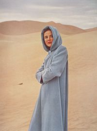 Louise Dahl-Wolfe - model wears Jaeger coat - Harper's Bazaar, January 1940 p39 - Collection of The Museum at FIT, Gift of Louise Dahl-Wolfe.