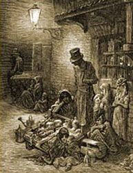 victorian children begging = Little Tommy Tucker sang for his supper