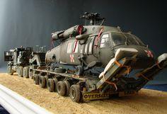 "DeToyz Shop: Oshkosh M1070 HETT with UH-60 ""Black Hawk"" on trailer"