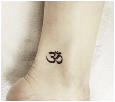 Ohm / Om / Aum ankle tattoo