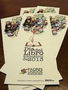 """Marcapáginas conmemorativo para el """"Día Internacional del Libro 2013"""" International Day Of, Book"""