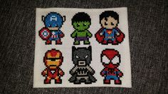 Korssting: superhelte, dreng Cross stitch: superheros, boy