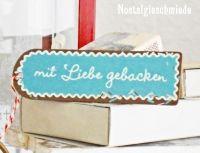 Nostalgieschmiede - Geschenkanhänger Mit Liebe gebacken www.nostalgieschmiede.de