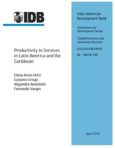 Productivity in Services in Latin America and the Caribbean (EBOOK) http://publications.iadb.org/bitstream/handle/11319/6442/CTI%20DP20Productivity%20in%20Services%20in%20LAC.pdf This paper studies productivity in Latin America and the Caribbean, with an emphasis on the service sector. It shows that the low levels of productivity observed in the region are not only a consequence of low productivity at the firm level, but also of misallocation of workers across firms.