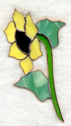 Handmade Stained Glass Flower, SUNFLOWER, Suncatcher (SNF33) #Handmade