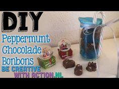 Zelf lekkere chocolade peppermuntjes maken! Leuk diy kerstkadootje