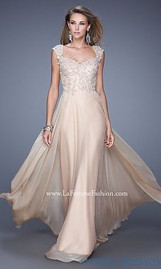 Floor Length Sweetheart Chiffon Gown by La Femme at SimplyDresses.com