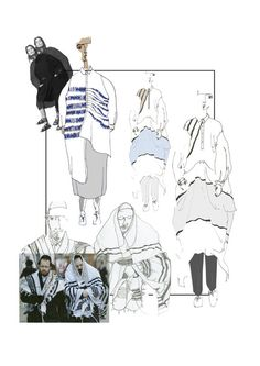 Fashion Sketchbook - fashion drawings & fashion design development for reinvented shirt dress // Henrietta Adams
