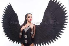 Black Angel Wings, Black Angels, Trending Outfits, Unique Jewelry, Handmade Gifts, Wedding, Vintage, Etsy, Dark Angels