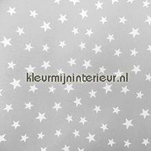 Sterren grijs-wit behang