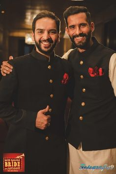 black bandhgala coat, black sherwani, red pocket square, gold buttons, velvet sherwani,