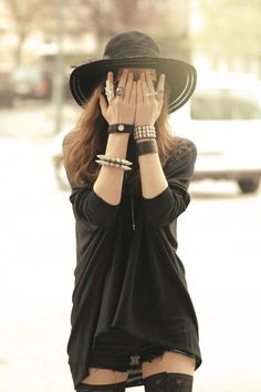 black|on|black #streetstyle så fed stil!
