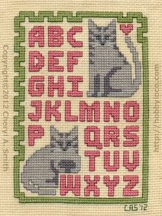 free cross stitch sampler patterns | Click Here to open color printable pattern in separate window.