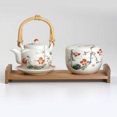 Vintage Deadstock Hand Painted Japanese Tea Set by StyleandSalvage Japanese Tea House, Japanese Tea Set, Tea Cup Saucer, Tea Cups, Sushi, Tea Service, Asian, Drinking Tea, Tea Time