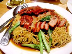 Egg Noodle with Barbeque Pork Thailand