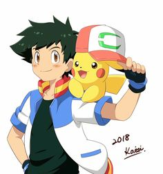 Ash and Pikachu in The Movie 2018.