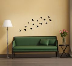 Flying Birds Wall Decor wall decal bedroom quote | inspirational wall sticker saying
