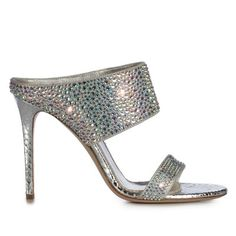 Love these shoes by LE SILLA Sandal In Naja, Python-Patterned Leather In Eclipse Colour - $939