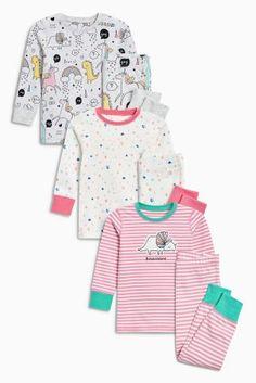 Pink Animal Snuggle Pyjamas Three Pack (9mths-8yrs)