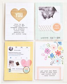 Project Life by One Little Bird Project Life 6x8, Project Life Scrapbook, Project Life Layouts, Scrapbook Paper Crafts, Scrapbook Cards, Life Page, Pocket Scrapbooking, Bird Design, Smash Book