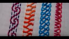 Hand Embroidery Designs | Basic embroidery stitches # Part 5 | Stitch an...
