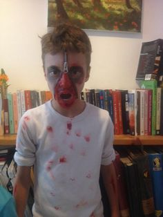 My son, the zombie.