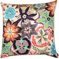 I have this fabric on a chair in my living room. Doesn't do it justice- I love it! MISSONI HOME Passiflora cushion 60cm