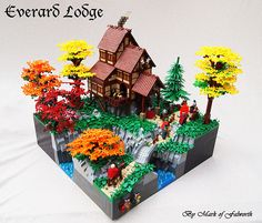 M.O.C. of the Week—Everard Lodge. I sure am enjoying everyone's autumn inspired builds. Mark of Falworth created such a serene scene this week in his build Everard Lodge. From the bright fall leaves to the smoke coming out of the chimney, this M.O.C. just screams autumn. I also love the BrickWarriors shout out with the Minotaur head and antlers. And to see more beautiful pictures of this build, along with some descriptions, check out Mark of Falworth's MOCpages!
