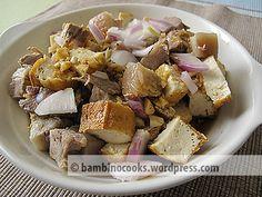 Tokwa't Baboy (Tofu and Pork) Filipino Appetizers, Filipino Dishes, Filipino Recipes, Filipino Food, Philippines Food, Second Breakfast, Pinoy Food, Dessert Drinks, Desserts