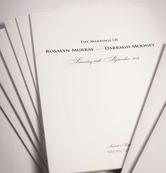 Wedding stationery. Wedding invitations. Wedding Ceremony booklets. Amy