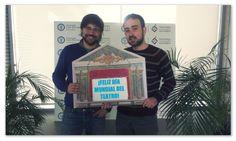 Nuestro CEO y Director Técnico mostrando su apoyo a la Noche de los Teatros de Madrid