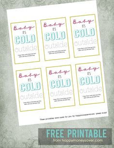 """Thrifty Sock Gift Idea + Free """"Baby It's Cold Outside"""" printable! - Happy Money Saver   Homemade   Freezer Meals   Homesteading   Simple Life"""
