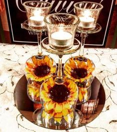 Wedding sunflower centerpieces wine glass 58 ideas wedding is part of Sunflower wedding - Sunflower Wedding Centerpieces, Rose Centerpieces, Wedding Table Centerpieces, Wedding Flowers, Centerpiece Ideas, Fall Sunflower Weddings, Wine Glass Centerpieces, Rose Wedding, Wedding Ideas With Sunflowers