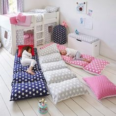 Brilliant sleepover accessories that are a must have for kids everywhere via Toby & Roo :: daily inspiration for stylish parents and their kids.