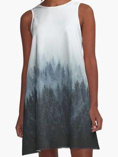 Wilderness Inspired Dress | Wanderlust Forest Trees Landscape | Design by Tordis Kayma
