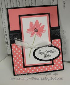 Stampin' Up!- It's a pretty fun fold card using the 'Advant Garden' Sale-a-bration stamp set!
