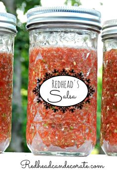 """Probably could make these labels for my salsa. Except mine would say """"Redhead's Chunky Fire Salsa"""". (Fresh Salsa Recipe   Redhead Can Decorate.)"""