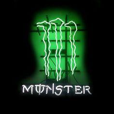 monster energy logo | New Monster Energy Drink Logo Neon Light Gift Pub Bar Beer Sign Real