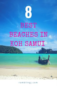 Best Beaches In Koh Samui Thailand. Koh Samui is one of the top tourist destinations in that offers so many wonderful attractions to visit. If you want to spend your vacation along with your family or friends in you will not be disapp Top Destinations In Thailand, Thailand Honeymoon, Thailand Travel Tips, Visit Thailand, Asia Travel, Backpacking Thailand, Philippines Travel, Thailand Art, Dc Travel