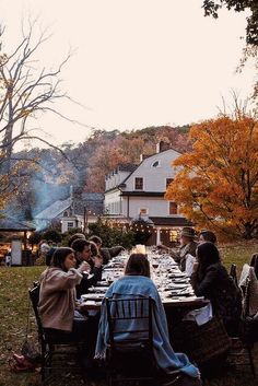 Don't be afraid to switch it up this season and host Thanksgiving dinner outside. Just remember to remind guests to bring a jacket!