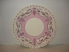 PINK Lusterware PLATE 93/4 signed by PastPossessionsOnly on Etsy, $9.95