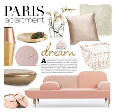 """""""The Perfect Paris Apartment"""" by lauren-intan ❤ liked on Polyvore featuring interior, interiors, interior design, home, home decor, interior decorating, Mitchell Gold + Bob Williams, iittala, Arteriors and Menu"""