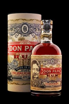 Don Papa is a small batch rum from the Philippines' sugar capital of Negros, distributed by Bleeding Heart Rum Company, intended to be the country's first sipping rum (Don Papa Rum) Wine And Liquor, Liquor Bottles, Tequila Bottles, Rhum Diplomatico, Rum Bottle, Wine Brands, Wine And Spirits, Wine Recipes, Garage Art