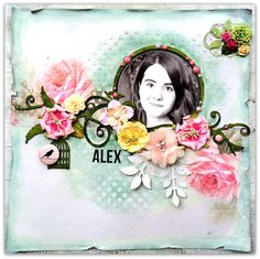 Beautiful for documenting your baby girls! 'Alex' for 'Lemoncraft DT' - Scrapbook.com