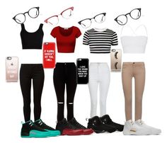 """""""Back to school outfits❤️"""" by daijah-on-point ❤ liked on Polyvore featuring Calvin Klein Collection, DK, Theory, Topshop, New Look, 7 For All Mankind, Dorothy Perkins, NIKE, Ray-Ban and Casetify"""