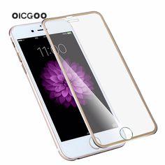 3d 곡선 가장자리 전면 화면 보호기 강화 유리 iphone 6 6 s plus 전체 커버 4.7 titanium 보호 필름