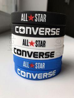 aec3e7fccb6551 CONVERSE All Star wristband BLACK WHITE BLUE sport bracelet silicone rubber  3D  Converse  Casual. eBay