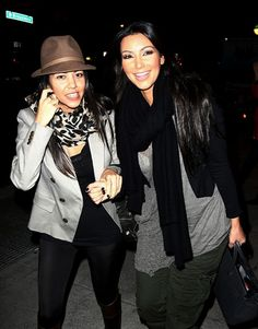 Kim Kardashian and Kourtney Kardashian hit the Big Apple