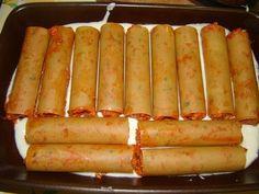 cannelloni :: Ami a konyhámból kikerül Quiche, Sausage, Cook Books, Baking, Hot, Ethnic Recipes, Pizza, Sausages, Bakken