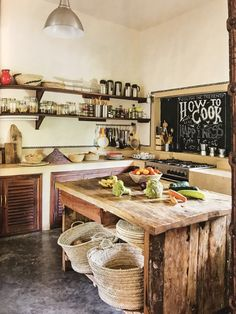 Wood kitchen from Africa (AD Magazine)
